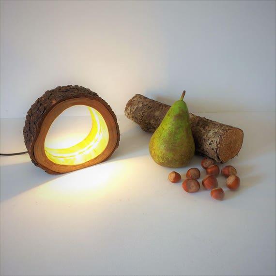rustic table lamp, desk lamp, log lamp, led log lamp, hollow log, rustique lamp, rustic wood, wood lamp, promotion gift