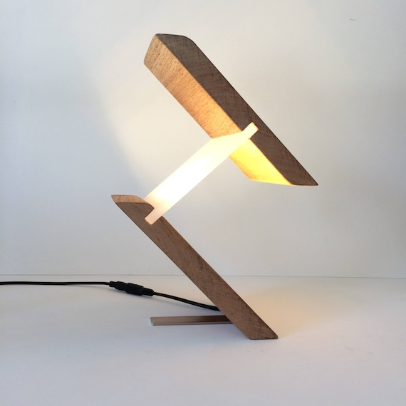 Lamp, Lamps, Table Lamp, Desk Lamp, Modern Lighting, Unusual Gift, Gift for home, Stylish Lamp, Led Lamp, Birthday gift for man, Wood Lamp