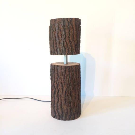 rustic lamp, led lamp, log lamp, tree lamp, table lamp, woodland lamp, log light, led log light, led log lamp, unusual lamp, unique lamp,