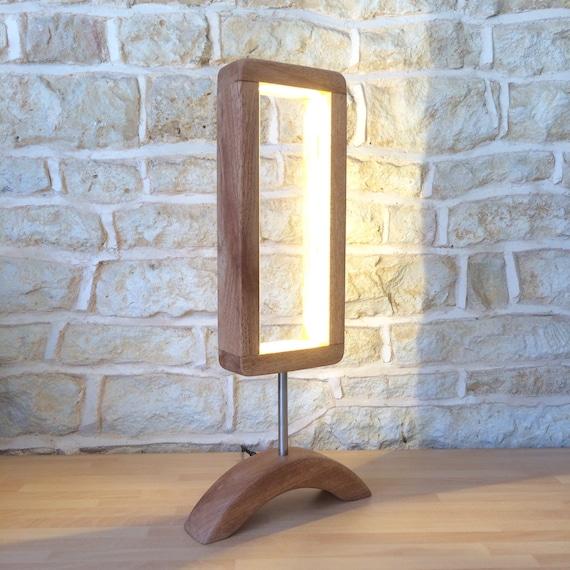 modern table lamp, desk lamp, handmade lamp, office lamp, wood and metal, stylish lamp, wood lamp, sleek lamp, contemporary lamp
