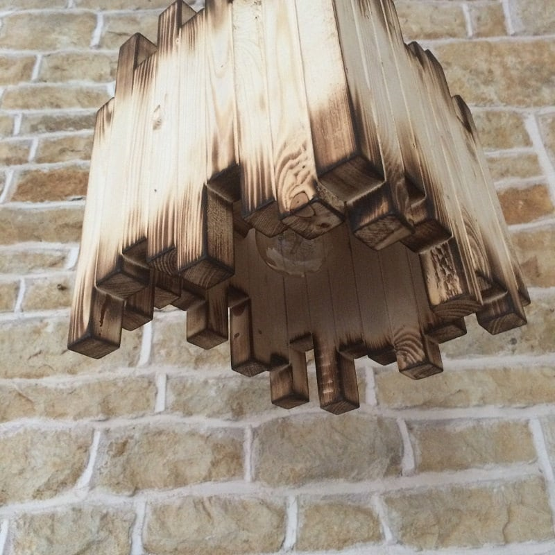 Rustic Ceiling Light Rustic Light Fixture Rustic Wood: Wood Light Fixture Rustic Ceiling Light Rustic Light