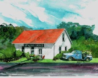 Gus Klenke Garage art print 8x10