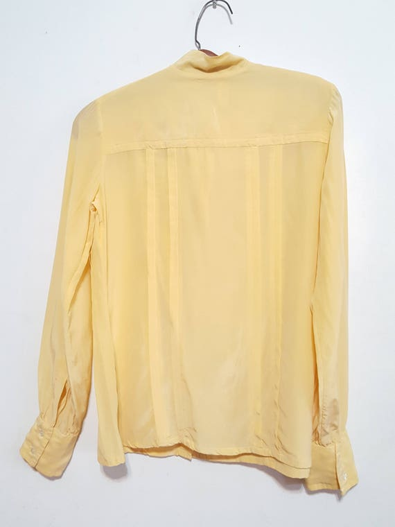 Womens Vintage Silk Blouses Scali Made in France … - image 9