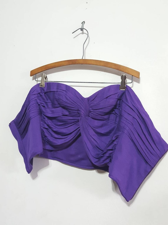 Ungaro Parallele Pairs Strapless Pleated Blouses … - image 4