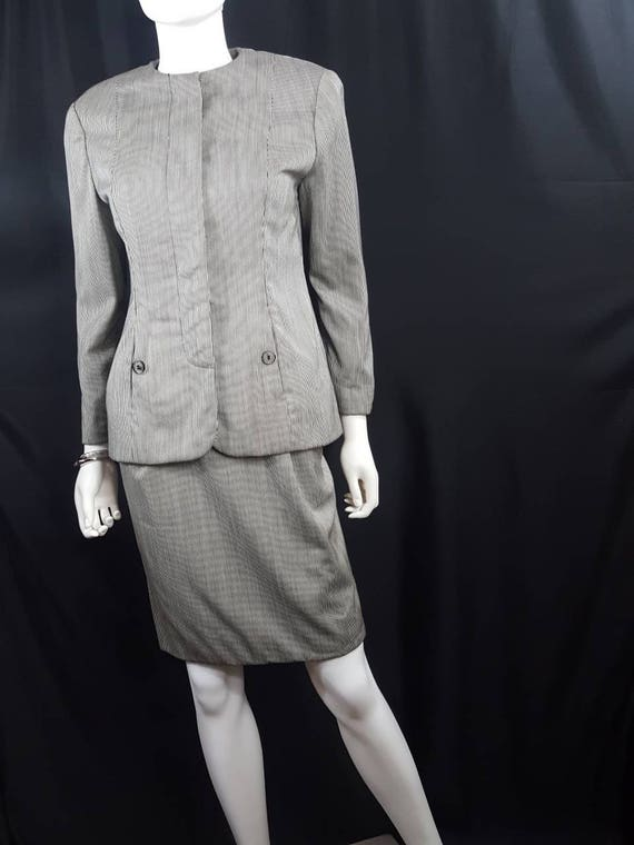 Geoffrey Beene Womens Suit Vintage 1980s  Designer