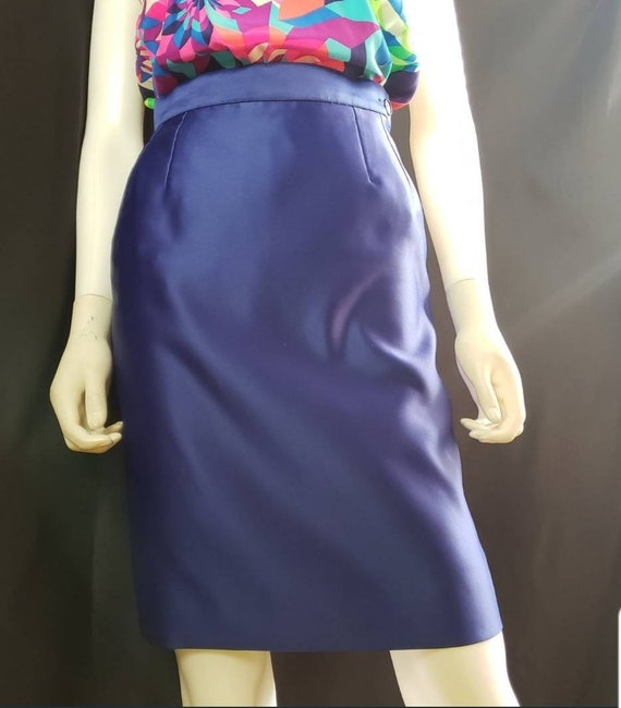 1990s Yves Saint Laurent Variations Pencil Skirt,