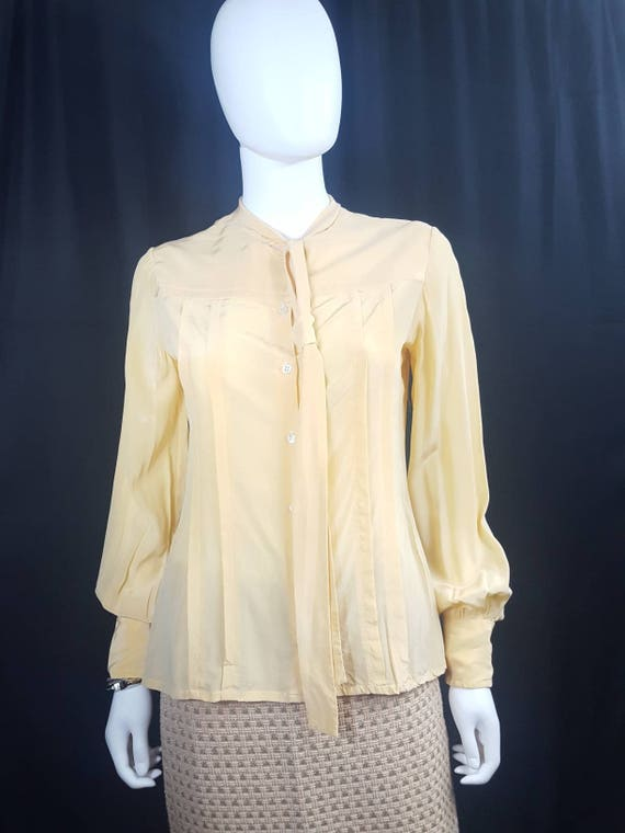 Womens Vintage Silk Blouses Scali Made in France … - image 2