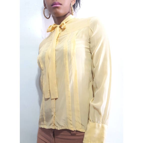 Womens Vintage Silk Blouses Scali Made in France … - image 8
