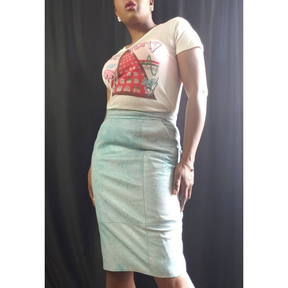 Lillie Rubin Leather Pencil Skirt, 1980s Pencil Sk