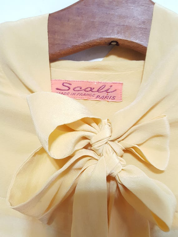 Womens Vintage Silk Blouses Scali Made in France … - image 10