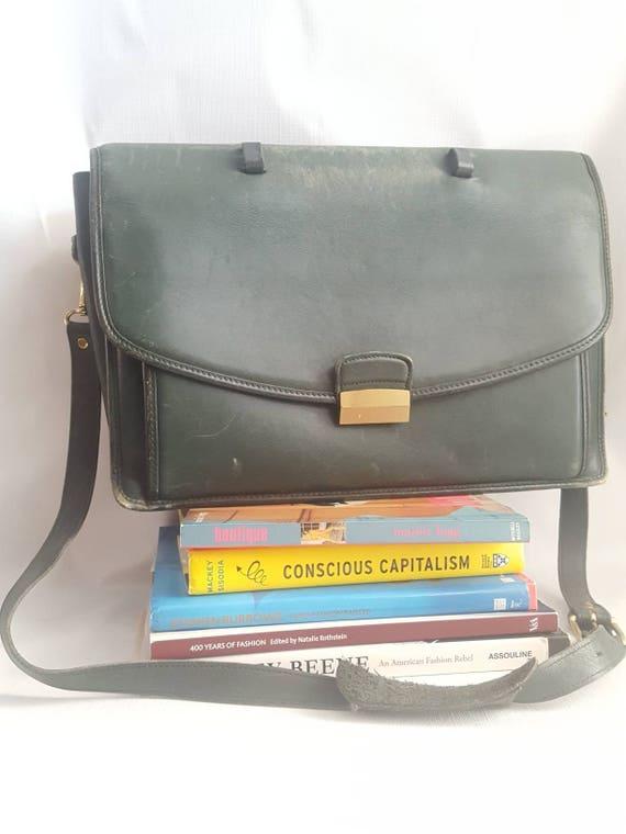 Coach Combination Lock Leather Briefcase Vintage M