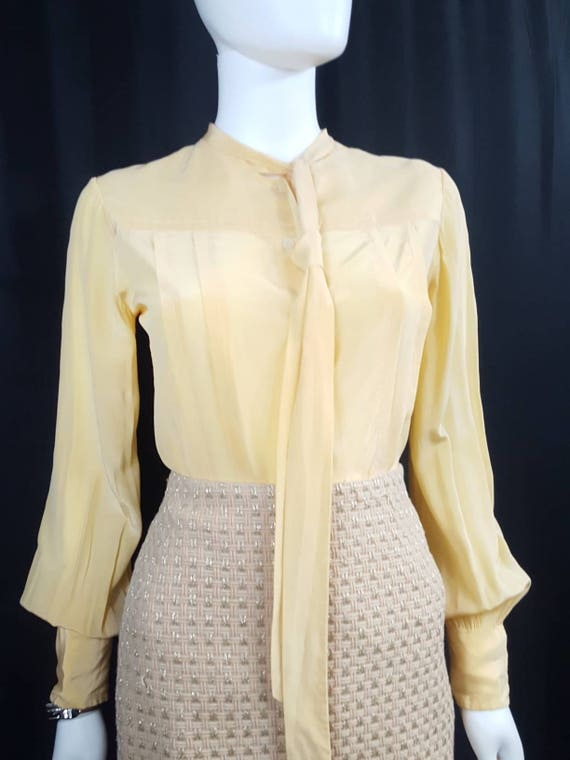 Womens Vintage Silk Blouses Scali Made in France Y
