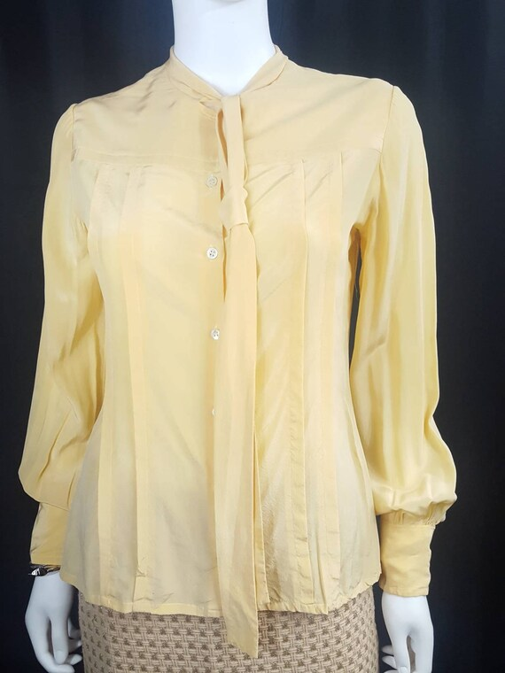 Womens Vintage Silk Blouses Scali Made in France … - image 5