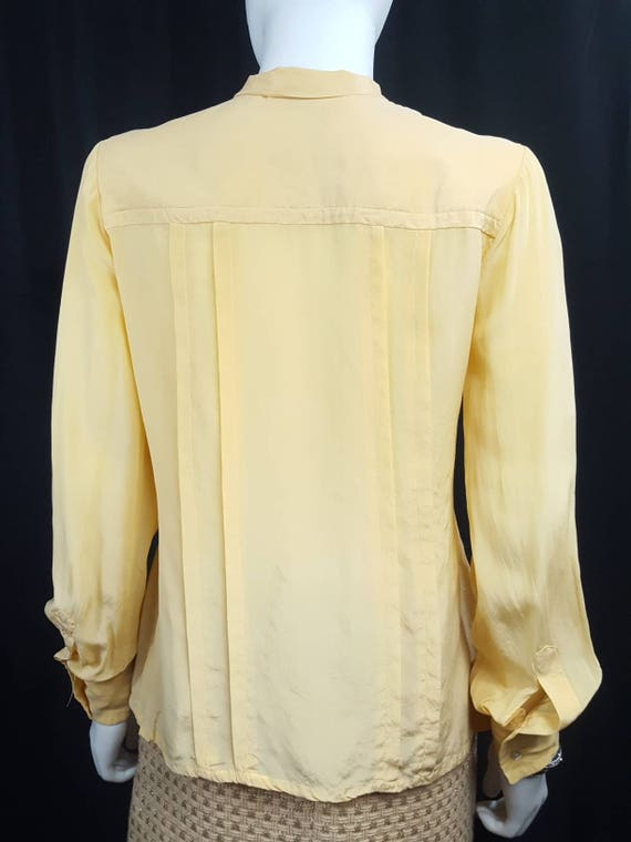 Womens Vintage Silk Blouses Scali Made in France … - image 6