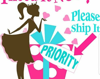 Bump your order, 2 to 3 day priority, ships next business day,limit 5 bows per order
