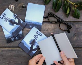 SALES Set of 5 mini journals / Notebooks, Sketch Notebook, Journal, Writer's Notebook.
