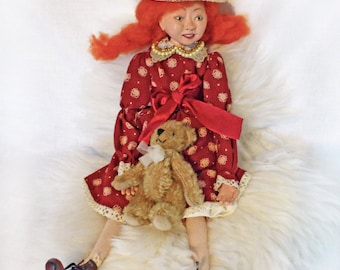 OOAK Collectible Character Art Doll. Free shipping.