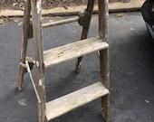 Vintage wood 2 step ladder