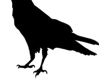 2 pce Crow no 2  Stencil - RE-USABLE 8.5 X 7.5 inch