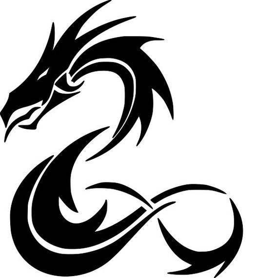 2 PCE DRAGON STENCIL RE-USABLE 9.5 X 6.5 INCH