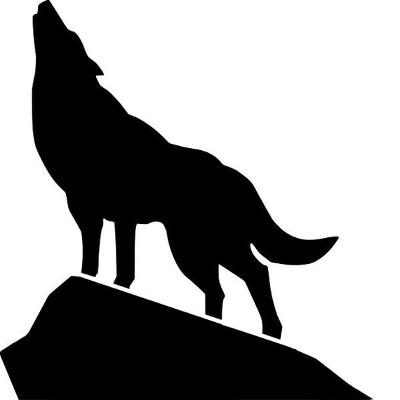 RE-USABLE 5.5 x 9.5 INCH Native American Chief Wolf Stencil