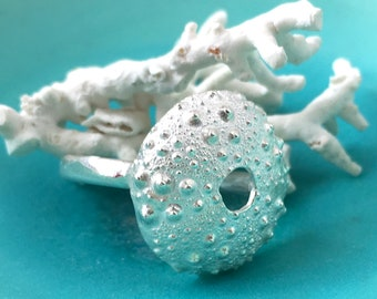 Sea Urchin Ring Size N, Beach Jewellery, Limpet Shell, Mary Colyer Jewellery