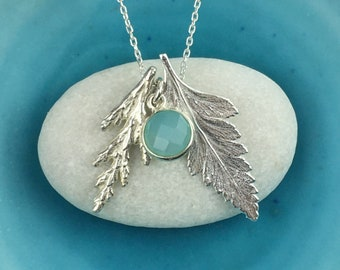Silver Fern Necklace, Large Silver Fern Pendant, Botanical Jewellery, Fern and Leaf Necklace, Boho Jewellery, Lovely Gift, Mary Colyer