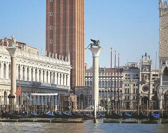 Venice Italy Print, Italian Wall Art, Photography Print, Piazza San Marco, St Marks, Gondolas Photo, Bedroom Wall Decor, Italy Picture
