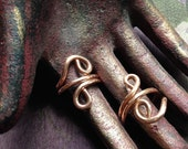 The Enchantment Goddess s Goddess Swirl Healing Copper Ring 11g Hand Wrought Raw Copper, 7.5 Size Ring, Size 8.25 Ring, Matching Rings
