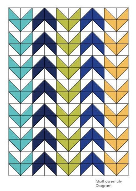 Pfeil Quilt/Muster/nähen Muster/Quilt Muster Pdf/Modern Quilt | Etsy