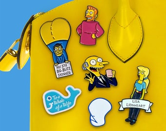 Simpsons Pin Collection Soft Enamel Pins