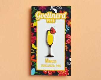 Pride Mimosa Limited Edition Hard Enamel Pin LGBTQ Drinks Cocktail Happy Hour