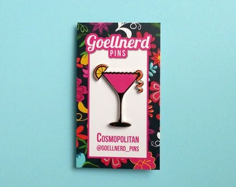 Pride Cosmopolitan Limited Edition Hard Enamel Pin LGBTQ Drinks Cocktail Happy Hour