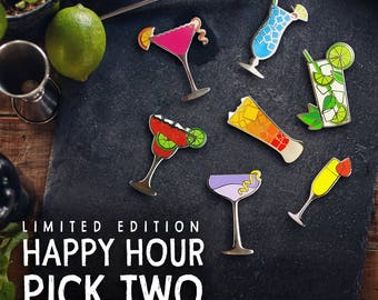 Cocktail Pin Happy Hour