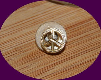 Price Reduced! 14 K Gold Peace Sign Single Earring
