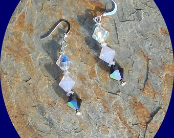Now on Sale Only TWO Dollars! Swarovski Crystal Bicone Earrings