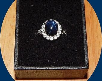 Stunning 5.08 ct Star Sapphire Ring