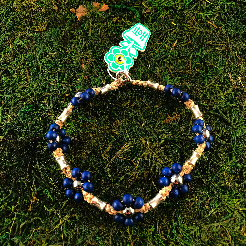 Details about  /HOTI Hemp Handmade Turquoise Blue Pink Purple Jingle Bells Anklet Ankle Bracelet