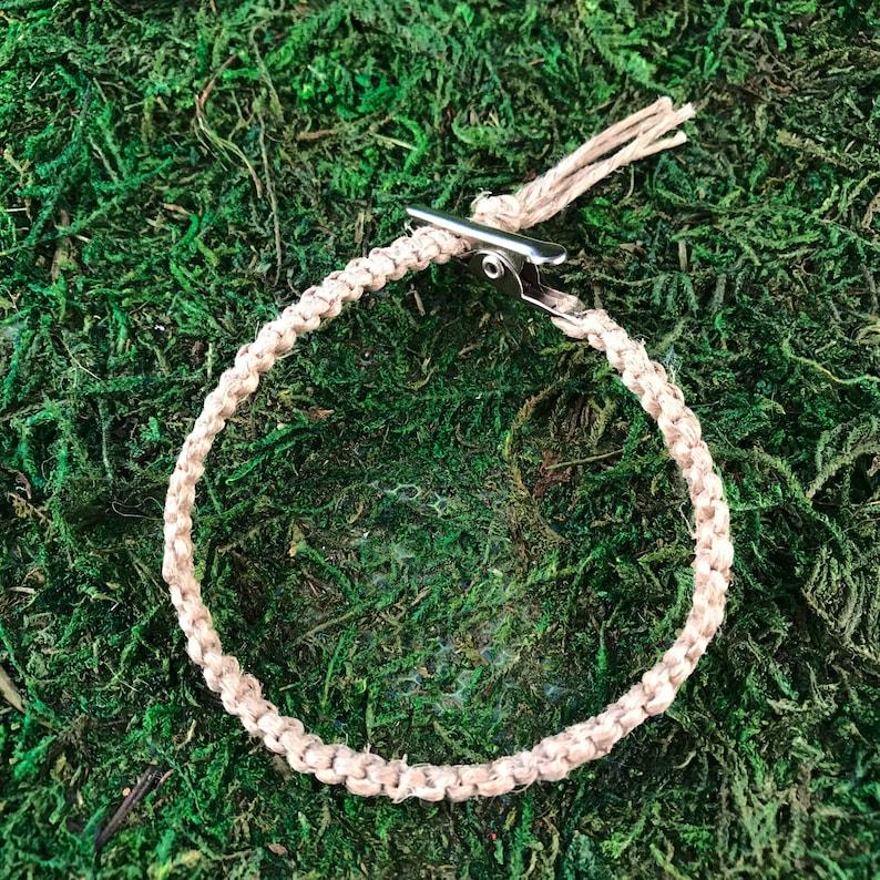 CUSTOM Hemp Roach Clip Friendship Bracelet Square Knot HOTI Handmade Marijuana Cannabis 420 Pot Weed Stoner Gift Handcrafted Macrame Knotted