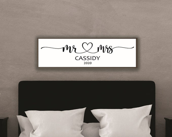 Mr and mrs sign-marriage sign-bridal shower gift-wedding head table sign-couple name sign custom-wedding gift-sign for wedding