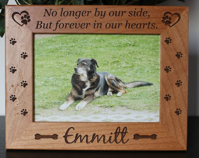 Pet loss frame dog loss picture frame-personalized-pet loss dog sympathy gift-pet memorial-engraved picture frame-loss of pet gift