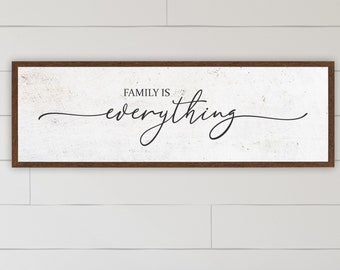 family is everything sign | wood sign | wall decor | family sign | sign for living room | farmhouse wall decor