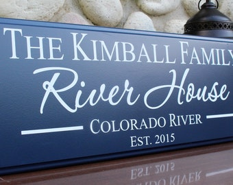 Personalized river house sign-river house decor-family river cottage sign-personalized lake decor-shore house decor-custom river house sign