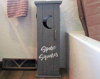 Toilet paper holder stand storage-standing-wood-bathroom storage-decor-farmhouse bathroom cabinet-wash cloth stand-bin