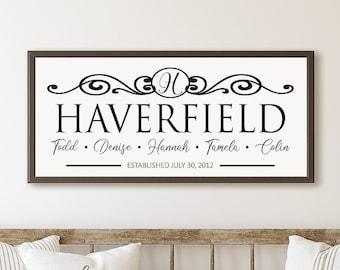 Personalized family sign-family name established wood sign-Monogram custom last name sign-Family name sign-family photo-mother in law gift