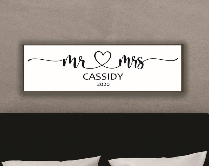 Mr and mrs sign-custom couple name sign-marriage sign-bridal shower gift-wedding head table sign-custom-wedding gift-sign for wedding