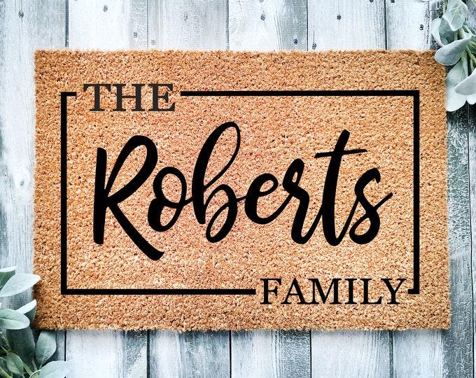 Personalized doormat-entrance doormat-entry way rug-Housewarming gift-doormat-welcome doormat-family wedding gift-Last name doormat