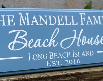 d50b0a5fd6c0 Personalized beach house sign