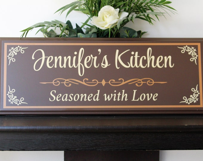 Personalized kitchen signs-gifts-decor-items-kitchen decor-art-gift for mom birthday-wall decor-gift for cook-chef-custom kitchen sign gift-