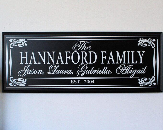 Family established sign-last name sign-family wood signs-wood sign for family-parents anniversary gift-family gift
